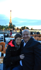 Ready for Paris by night along the Seine.