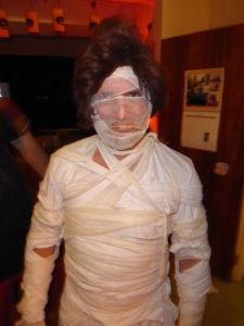 By the end, even the mummy was wearing a wig.