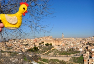 Miss Chicken visits Toledo, Spain