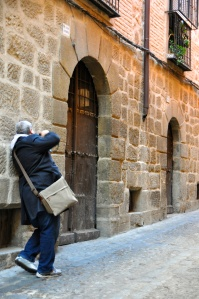 Getting the perfect angle on the streets of Toledo