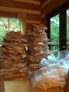 The first round of packing materials