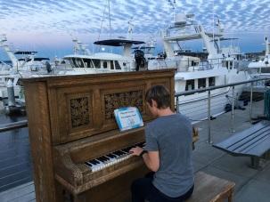 Piano man, er...girl.