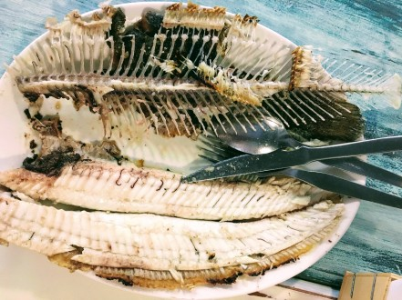 Local fish, grilled